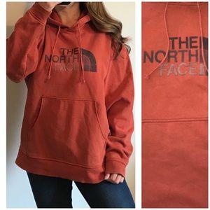 THE NORTH FACE Rust Orange Hoodie Sweatshirt Med